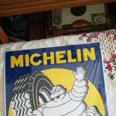 Carteles: CARTEL DE CHAPA TROQUELADA DE MICHELIN. Lote 148786917
