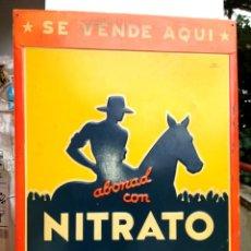 Carteles: ICÓNICA CHAPA DE NITRATO DE CHILE. Lote 149245734