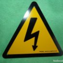 Carteles: ANTIGUA CHAPA PELIGRO DE MUERTE DESCARGA ELECTRICA NUEVA DE STOCK ALUMINIO. Lote 149703050
