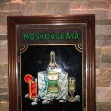 Carteles: ANTIGUO ESPEJO PUBLICIDAD MOSKOVSKAYA. Lote 150017844