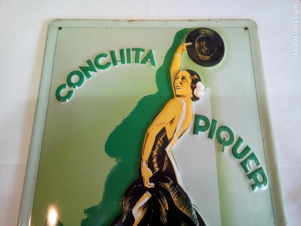 Carteles: CHAPA ESMALTADA CONCHITA PIQUER/LA VOZ DE SU AMO - Foto 2 - 150080614