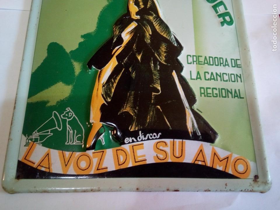 Carteles: CHAPA ESMALTADA CONCHITA PIQUER/LA VOZ DE SU AMO - Foto 3 - 150080614