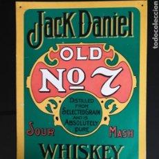 Carteles: CARTEL DE CHAPA JACK DANIEL. Lote 151136625