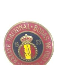 Carteles: PLACA RAC REAL AUTOMOVIL CLUB RALLYE NACIONAL BODAS DE ORO. 1953. Lote 151227238