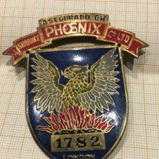 Carteles: PLACA SEGURO, PHOENIX C. LTD. Lote 151447384