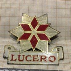 Carteles: PLACA SEGURO LUCERO. Lote 151448153