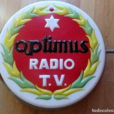 Carteles: (JX-180282)CARTEL PUBLICITARIO LUMINOSO:OPTIMUS RADIO T.V.ANTIGUAS RADIOS Y TELEVISIONES DE VÁLVULAS. Lote 151490806