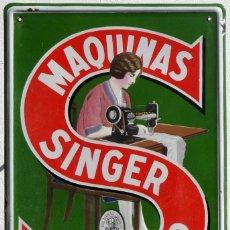 Plakate - MÁQUINAS SINGER PARA COSER - CHAPA ESMALTADA - PRINCIPIOS DEL SIGLO XX - 151868506
