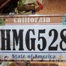 Carteles: CHAPA PLACA METAL CALIFORNIA 15 X 30 DECORATIVA. Lote 152583246
