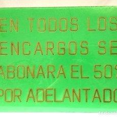 Carteles: ANTIGUO CARTEL DE SASTRERÍA. Lote 152878030