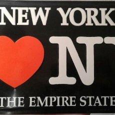 Carteles: CARTEL CHAPA DE 30X15 I LOVE NEW YORK - AMERICA - THE EMPIRE STATE. Lote 153057374