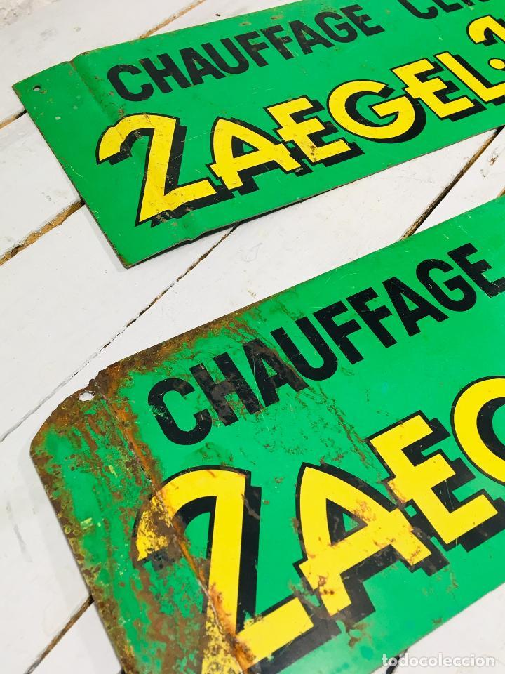 Carteles: CARTEL INDUSTRIAL DE CHAPA PARA PARED LETRERO ANTIGUO ROTULO DECORATIVO DE METAL - Foto 3 - 153227414