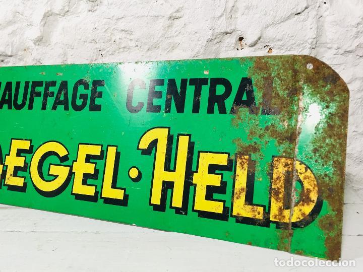Carteles: CARTEL INDUSTRIAL DE CHAPA PARA PARED LETRERO ANTIGUO ROTULO DECORATIVO DE METAL - Foto 4 - 153227414