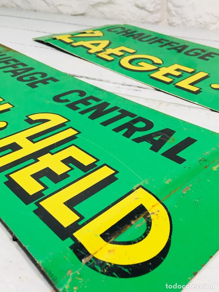 Carteles: CARTEL INDUSTRIAL DE CHAPA PARA PARED LETRERO ANTIGUO ROTULO DECORATIVO DE METAL - Foto 5 - 153227414