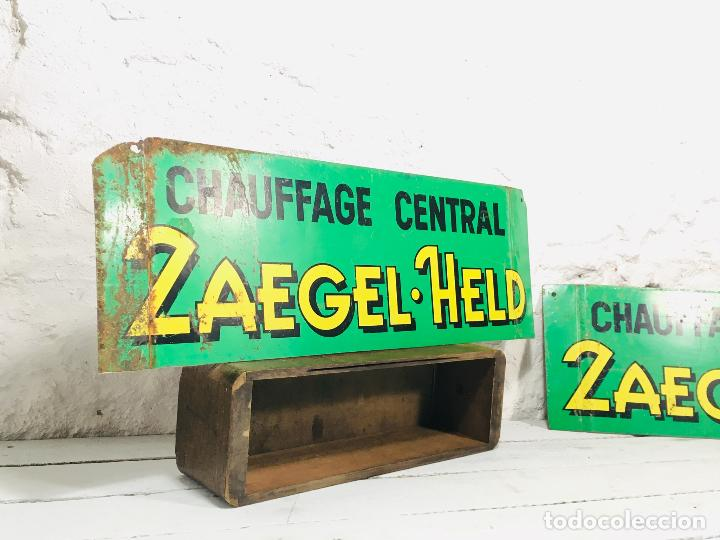 Carteles: CARTEL INDUSTRIAL DE CHAPA PARA PARED LETRERO ANTIGUO ROTULO DECORATIVO DE METAL - Foto 7 - 153227414
