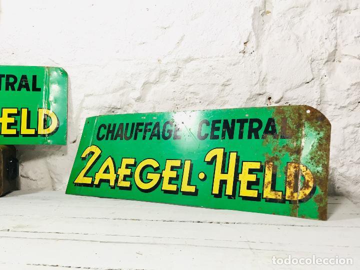 Carteles: CARTEL INDUSTRIAL DE CHAPA PARA PARED LETRERO ANTIGUO ROTULO DECORATIVO DE METAL - Foto 9 - 153227414