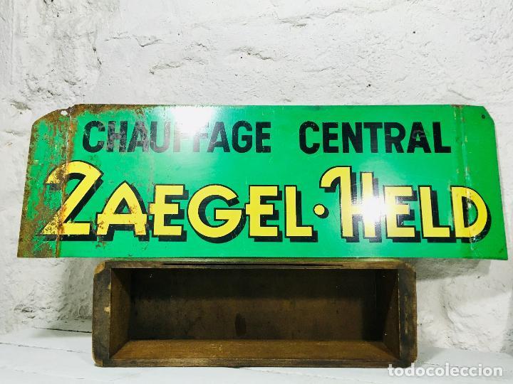 Carteles: CARTEL INDUSTRIAL DE CHAPA PARA PARED LETRERO ANTIGUO ROTULO DECORATIVO DE METAL - Foto 10 - 153227414