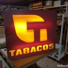 Carteles: GRAN CARTEL LUMINOSO DE TABACOS. ANTIGUO ESTANCO.70X60X10CM.. Lote 153845434
