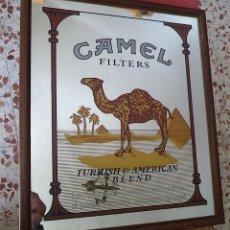 Carteles: CARTEL ESPEJO PROPAGANDA DE TABACO CAMEL MIDE 50/43 CM. Lote 153881738
