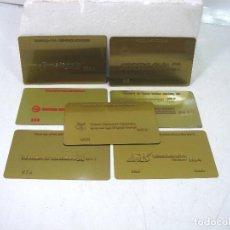 Affiches: RARISIMAS TARJETAS METALICAS LINEAS AEREAS-PROPERTY OF-TWA,ARABIAN AIRLINES,MALAYSIA TARJETA CREDITO. Lote 154235586