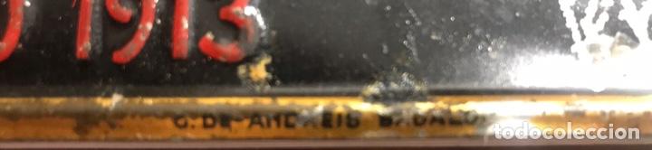 Carteles: Antigua chapa placa cartel seguros de incendios taberneros Barcelona - andreis - Foto 3 - 154271873
