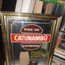 Carteles: CARTEL ESPEJO ORIGINAL CAFÉ CATUNAMBU. Lote 154379628