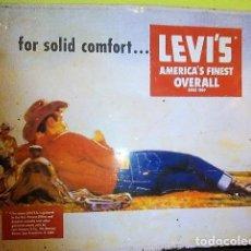 Carteles: CARTEL LEVIS ANTIGUO E MAYUSCULA. Lote 154826154