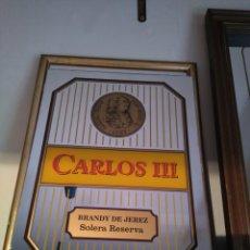Carteles: ESPEJO ORIGINAL BRANDY CARLOS III. Lote 154932522
