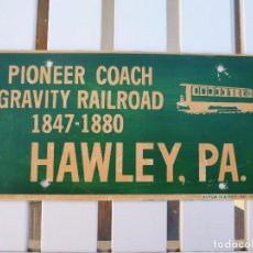 Carteles: PLACA GRAVITY RAILROAD USA.. Lote 155209674