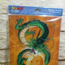 Carteles: DRAGON BALL Z - BOLA DEL DRAGON Z - PLACA METALICA - SHENRON - METAL - CARTEL - PRECINTADO - NUEVO. Lote 155420618