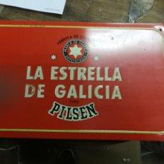 Carteles: ANTIGUO CARTEL CHAPA DE LA ESTRELLA DE GALICIA PILSEN. Lote 155489794