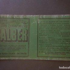 Carteles: CALBER POLVOS HIGIENICOS SAN SEBASTIAN HACIA 1900 CHAPA METALICA PUBLICIDAD PERFUMERIA . Lote 155622118