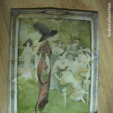 Carteles: GALLETAS VIÑAS-CHAPA ANTIGUA-G DE ANDREIS-MIDE 38 X 56 CM-VER FOTOS. Lote 155696398