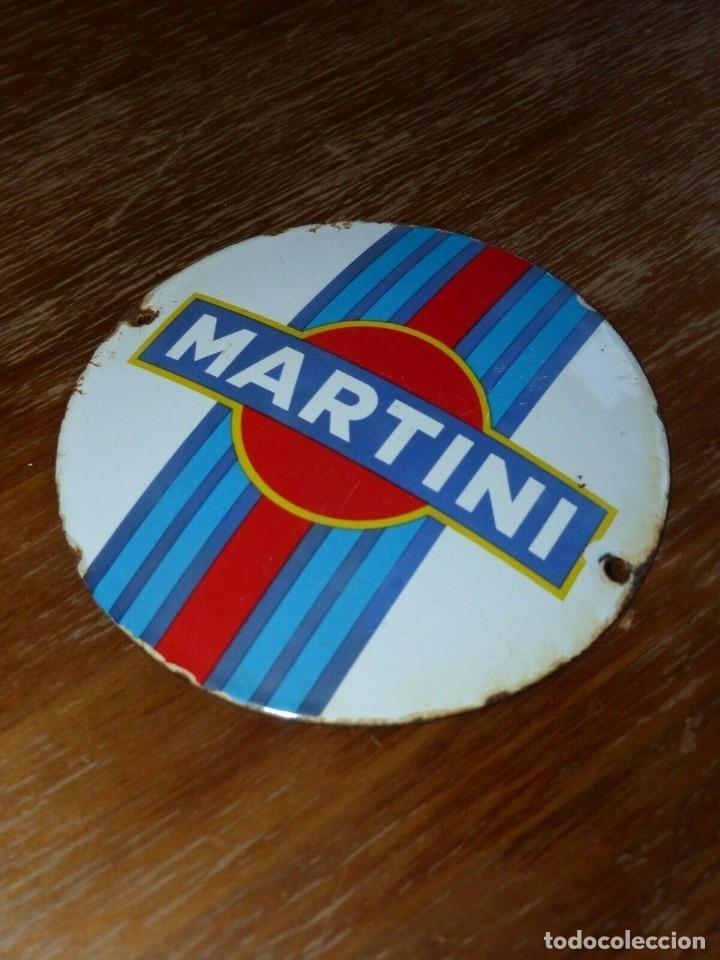 Carteles: Antiguo cartel publicitario chapa ceramica esmaltada bebida licor Martini - Foto 2 - 155799998