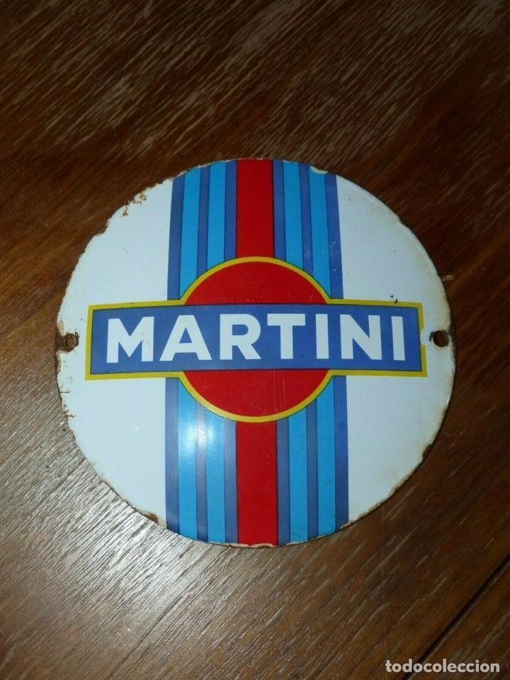 Carteles: Antiguo cartel publicitario chapa ceramica esmaltada bebida licor Martini - Foto 4 - 155799998