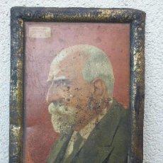 Carteles: ANTIGUO CARTEL (LETRERO) PUBLICITARIO HOMBRES CELEBRES DOCTOR FERRAN DEL DR. ANDREU HOJALATA (LATA). Lote 155804266