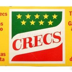 Carteles: CHAPA PLACA PUBLICIDAD DE CRECS PATATAS CHIPS SNACKS AÑOS 80. Lote 155835730