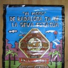 Carteles: CARTEL BANDEROLA ANIS DEL MONO AJUNTAMENT DE BADALONA EL MONO DE BADALONA JA TE ESTATUA AÑO 2012. Lote 156014826
