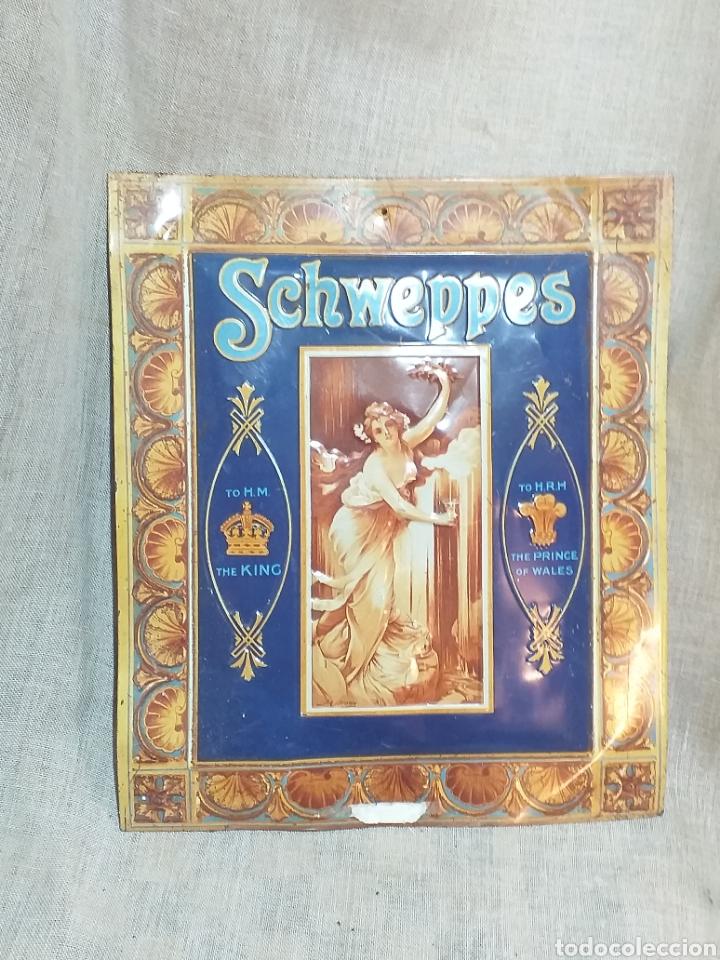 CARTEL PUBLICITARIO SCHWEPPES , CARTEL CHAPA (Coleccionismo - Carteles y Chapas Esmaltadas y Litografiadas)