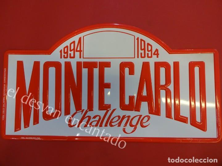 CHAPA ORIGINAL MONTE-CARLO CHALLENGE 1994. 40 X 22 CTMS. (Coleccionismo - Carteles y Chapas Esmaltadas y Litografiadas)