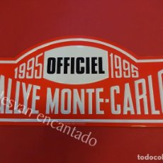 Carteles: CHAPA ORIGINAL RALLYE MONTE-CARLO 1995. 43 X 20 CTMS.. Lote 156170498