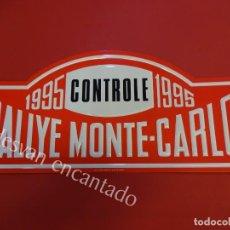 Carteles: CHAPA ORIGINAL RALLYE MONTE-CARLO 1995. 43 X 20 CTMS.. Lote 156170834