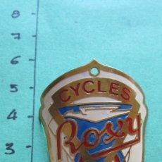 Affissi: CHAPA BICICLETA CYCLES ROXY DEPOSE. Lote 156509162
