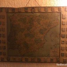 Carteles: ANTIGUA PUBLICIDAD SERVUS Y KAOL LIMPIAMETALES CON MAPA ESPAÑA AÑO 1929 HISPANO LUBZINSKY LITOGRAFIA. Lote 191585293