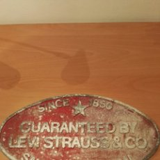 Carteles: CARTEL METALICO ORIGINAL LEVIS STRAUSS & CO.. Lote 156886960