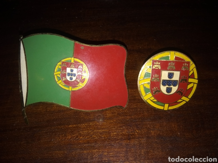 Placas Con Bandera De Portugal Antiguas Para Au Buy Old Posters Enameled And Lithographed Plates And Mirrors At Todocoleccion 156919092