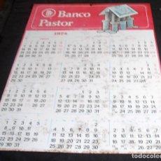 Carteles: CARTEL ALMANAQUE DE CHAPA AÑO 1974 , BANCO PASTOR, 50 X 69 CM. Lote 158335402