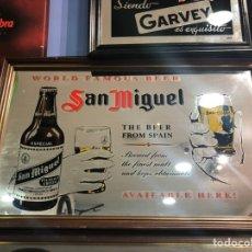 Carteles: ESPEJO CERVEZA SAN MIGUEL ANTIGUO. Lote 158479156