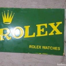 Carteles: CARTEL ESMALTADO RELOJES ROLEX. Lote 158678092