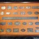 Carteles: MAGNÍFICA Y RARA COLECCIÓN DE 25 PLACAS DE CONSTRUCTORES DE LOCOMOTORA DE ESPAÑA. TRENES VAPOR.. Lote 158719078